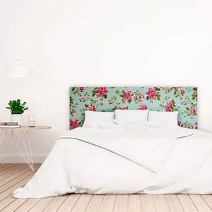 Tete De Lit Blanche : t te de lit blanche avec roses imprim vente de toutes ~ Premium-room.com Idées de Décoration