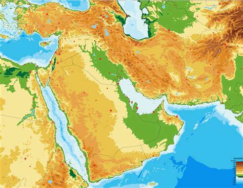 middle east physical map blank map quiz game