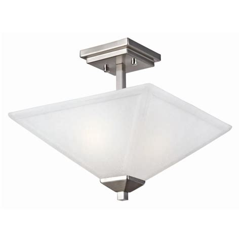 design house torino  light satin nickel semi flush mount