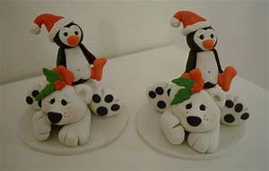 Fimo Christmas Ornaments - Fimo Cake Toppers and Ornaments