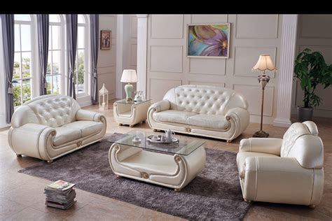 giza full leather  beige sofas loveseats  chairs