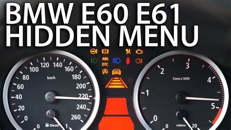 Bmw E60 Warning Lights Meaning