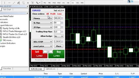 mt4 terminal trader on chart v1 5 one click trading for any mt4