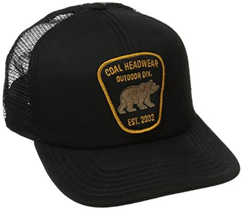 bureau hat coal mens headwear bureau outdoor trucker hat one size