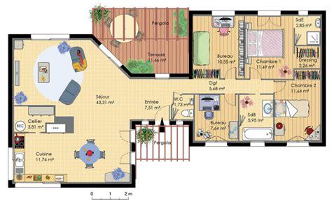 maison et cuisine plan de maison en bois conçu par un architecte avec
