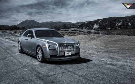 2014 Rolls Royce Ghost Silver By Vorsteiner Wallpaper