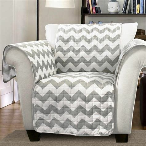 Grey Loveseat Cover by Cover Protector Chevron Sofa Slip Furniture White
