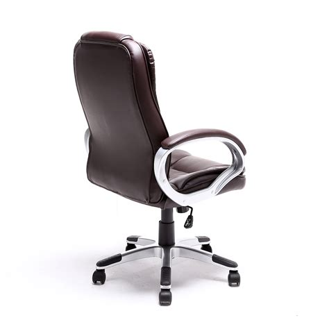 black brown white pu leather modern executive computer