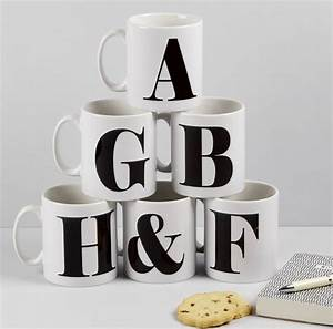 Personalised alphabet mugs by the alphabet gift shop for Alphabet letter mug