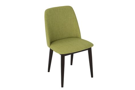 tintori mid century dining chairs in green fabric by