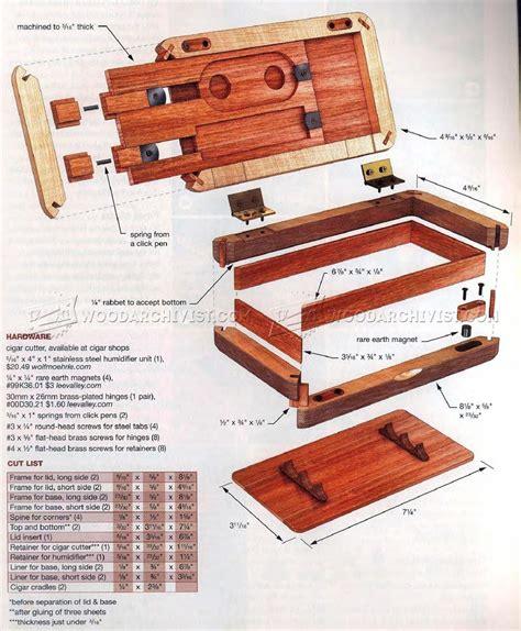 pocket humidor plans woodarchivist