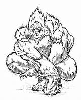 Yeti Cartoon Pages Sketch Template Coloring Everest Abominable Deviantart Sheets Bigfoot 2007 sketch template