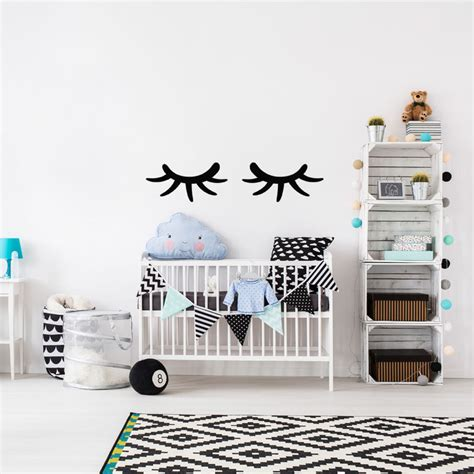 sticker dessin cils stickers chambre ado fille ambiance sticker