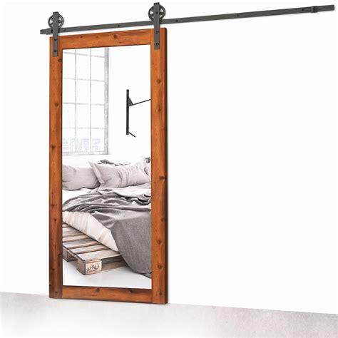 porte de grange coulissante porte de grange coulissante miroir espace bois