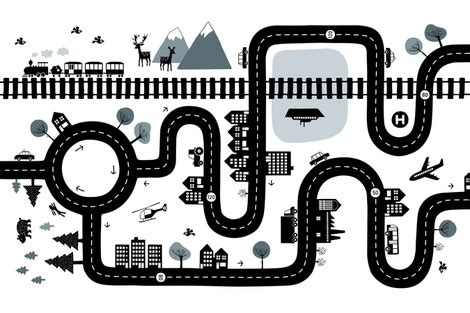 road map clipart black and white road map clipart black and white clipartxtras