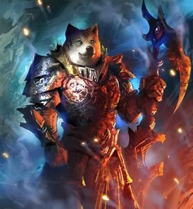 warrior doge sword armor shiba inu