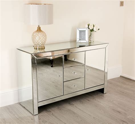 mirrored sideboard furniture large venetian mirrored sideboard living room furniture 4165