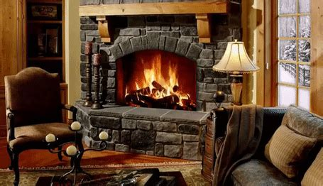 10 hours snowfall fireplace crackling sound find