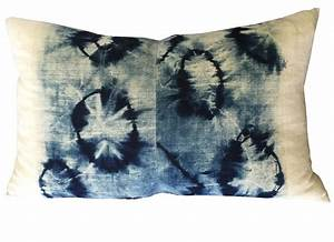indigo tie dye shibori pillow chairish With kitchen cabinet trends 2018 combined with tie dye wall art