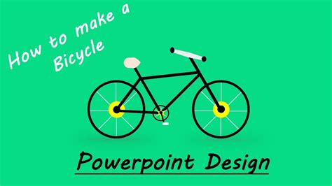 create bicycle flat design bicycle powerpoint