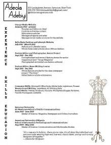 Fashion Designer Resume