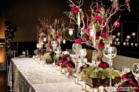 Burgundy And Bling Wedding Theme