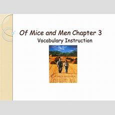 Ppt  Of Mice And Men Chapter 3 Powerpoint Presentation Id2271261
