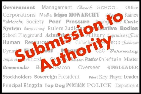 submission  authority   gag reflex commonsense