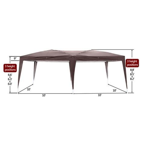 ez pop  wedding party tent folding gazebo canopy heavy duty carry case dark coffee