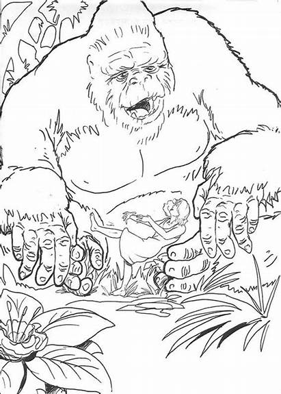 Kong King Coloring Pages Books Printable