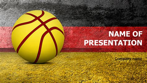 basketball  germany powerpoint template