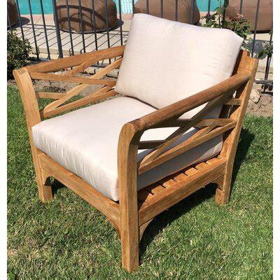 trijaya living malibu outdoor teak club chair  ottoman