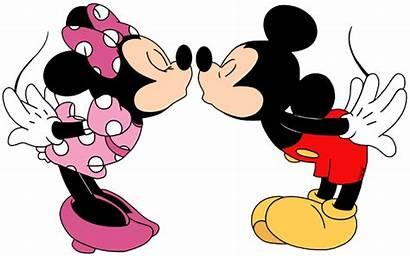 Minnie Mickey Kissing Clip Disney Valentine Mouse