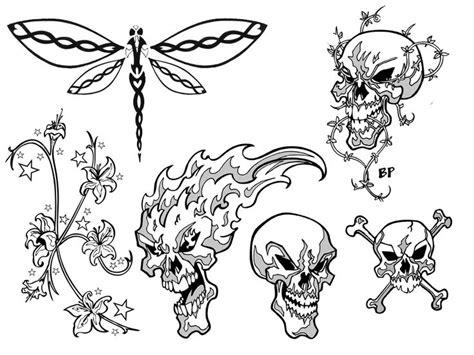 simple skull tattoos designs   clip art  clip art  clipart library