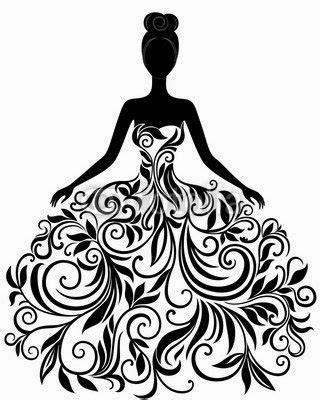 En este video te enseñaré la técnica que utilizo para dibujar vestidos de ceremonia utilizando marcadores y lápices de color. Siluetas Fantasía de Chicas. | Silueta de vestido, Silueta ...