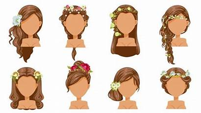Bride Cheveux Princess Hairstyle Flower Peinado Kapsel
