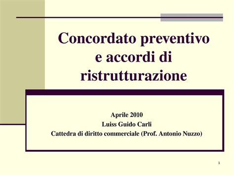 diritto commerciale dispense concordato preventivo dispense