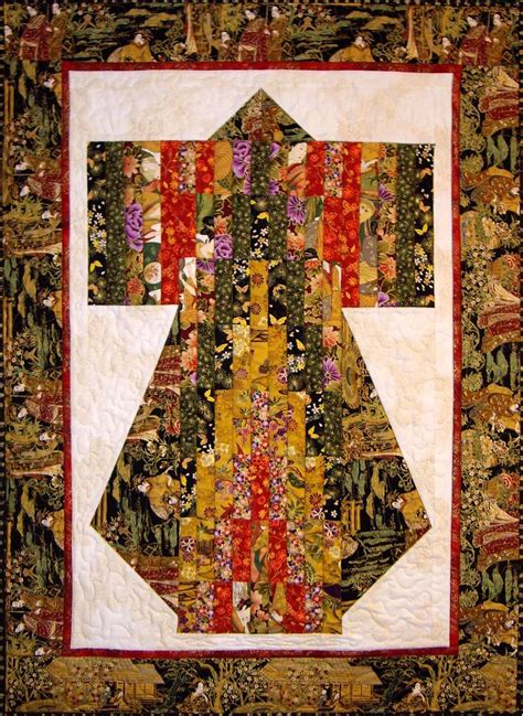 Stoffe Orientalische Muster by 3970 29 Bargello Kimono Quilt Great Kimono Wall Hanging