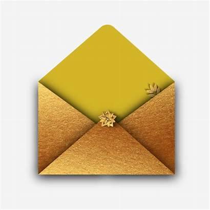 Envelope Golden Pngtree