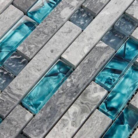 blue glass tile kitchen backsplash gray marble backsplash tiles sea glass blue wave patterns