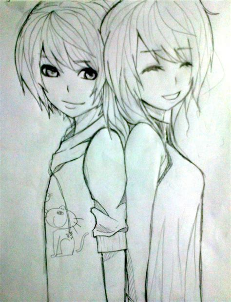 Photos Anime And Drawing Best Drawing Sketch Best Friends Sketch Best Pencil Drawing Of Anime Anime