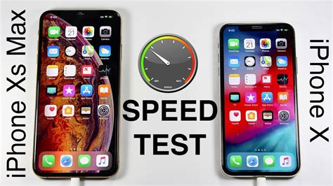 iphone xs vs iphone x speed test