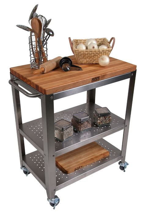 mobile kitchen island butcher butcher block kitchen carts boos catskill