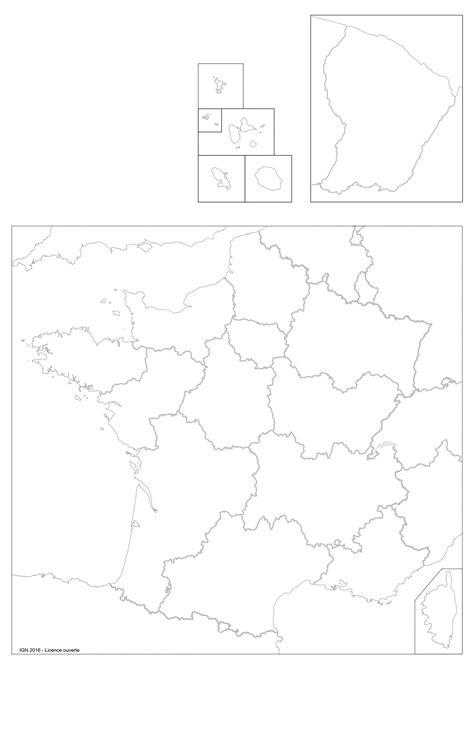 16 octobre 2018 altto aucun commentaire. Carte De France Vierge Nouvelles Régions - PrimaNYC.com