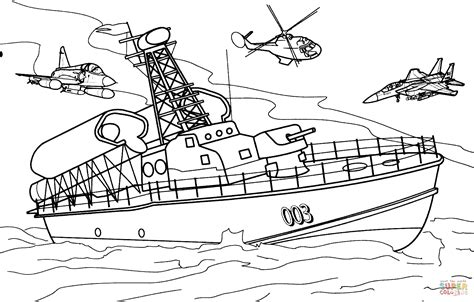 Army Punt Boat by Ausmalbild Lenkwaffenkreuzer Ausmalbilder Kostenlos Zum
