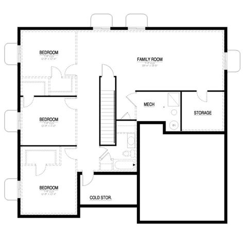 floor plans with basement california collection 1550 contemporary basement floor