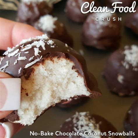 Bake Chocolate Coconut Snowballs Gluten Free Clean