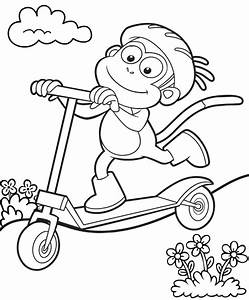 Free coloring pages of stunt scooters