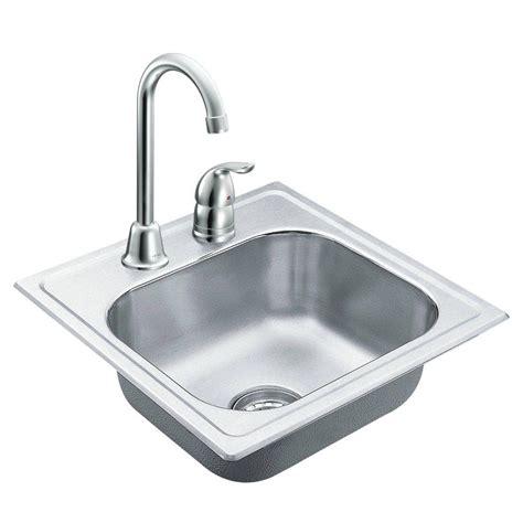 outdoor sink home depot moen 2000 series drop in stainless steel 15 in 2 hole