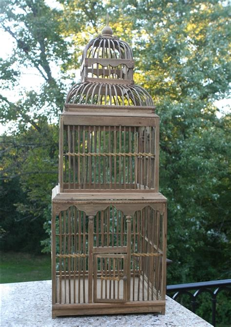 Decorative Wood Bird Cage tower decorative birdcage wedding table accessory